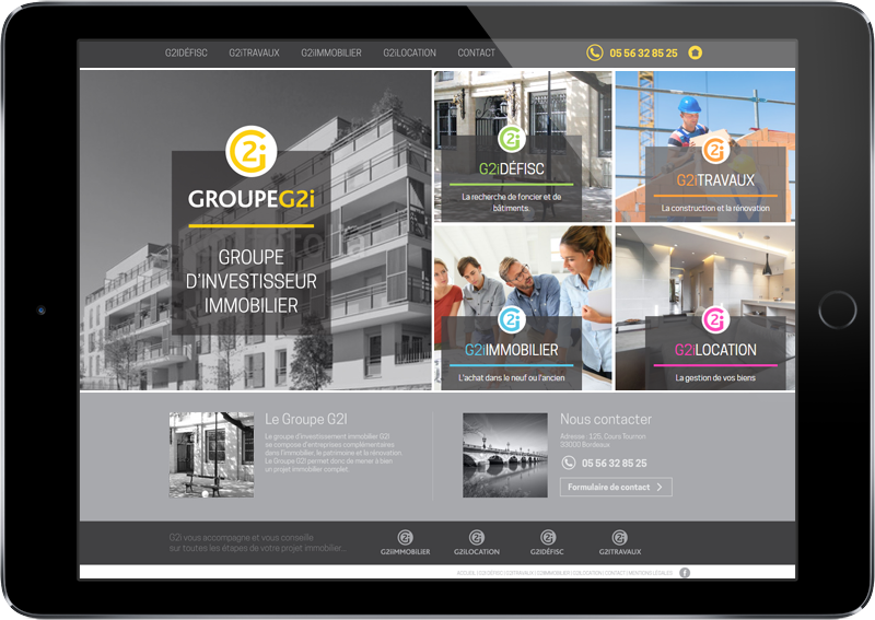 Site internet - Groupe G2i