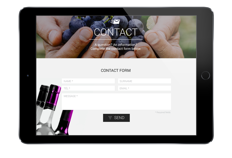 Site internet - page contact - Umpteen Wines